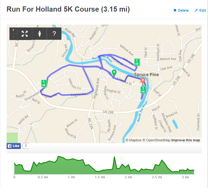 Course Map 5K